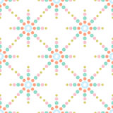 Seamless colorful dots pattern Royalty Free Stock Image