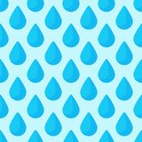 Seamless colorful drops pattern background vector water blue nature raindrop abstract illustration Royalty Free Stock Image