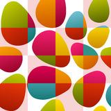 Seamless colorful easter eggs. Seamless multicolor easter eggs on checked background Stock Image