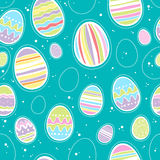 Seamless colorful easter eggs pattern. Stock Image