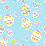 Seamless colorful easter eggs pattern. Vector background. Stock Photography
