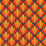 Seamless colorful fan scales pattern Royalty Free Stock Image