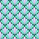 Seamless colorful fan scales pattern Royalty Free Stock Photo