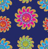 Seamless colorful fancy floral pattern vector illustration