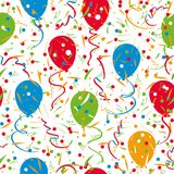 Seamless colorful festive pattern confetti and balloons. Vector seamless colorful festive pattern confetti and balloons Royalty Free Stock Photography