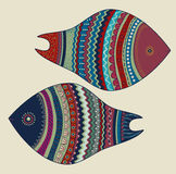 Seamless colorful fish Royalty Free Stock Photo