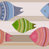 Seamless colorful fish Royalty Free Stock Photos