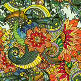 Seamless colorful floral background. Hand drawn illustration for design Royalty Free Stock Images