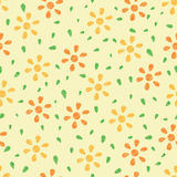 Seamless colorful floral background Stock Photo
