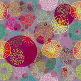 Seamless colorful floral pattern Stock Photography