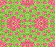 Seamless colorful floral pattern background royalty free illustration