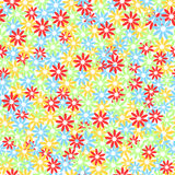 Seamless colorful floral pattern. Chaotic  .Vektor Royalty Free Stock Images