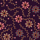Seamless colorful floral pattern Stock Images