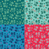 Seamless colorful floral pattern vector. Set of colorful variations. Stock Images