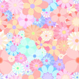 Seamless colorful flower blooming medley pattern background vect. Seamless colorful flower blooming medley pattern background Royalty Free Stock Images