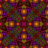 Seamless colorful flower pattern. Royalty Free Stock Photos