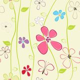 Seamless colorful flower pattern Stock Photography