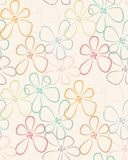 Seamless colorful flower pattern Stock Photo