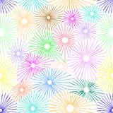 Seamless colorful flower pattern Royalty Free Stock Photo
