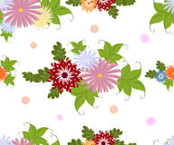 Seamless colorful flower pattern on white background. EPS10 vector illustration. Royalty Free Stock Image