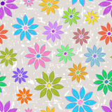 Seamless with colorful flowers Stock Images