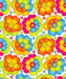 Seamless colorful flowers for curtain Royalty Free Stock Photo