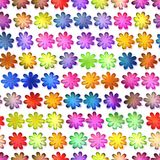 Seamless colorful flowers texture, Isolation on a white background Stock Photos