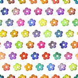 Seamless colorful flowers texture, Isolation on a white background Stock Image