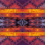 Seamless colorful geometric ethnic pattern Royalty Free Stock Image