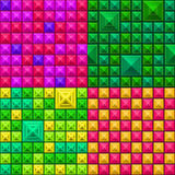 Seamless colorful geometric pattern Stock Images