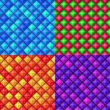 Seamless colorful geometric pattern Stock Photos
