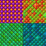 Seamless colorful geometric pattern Royalty Free Stock Photo