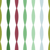 Seamless colorful geometric vertical convex stripes lines abstract vector pattern background comes from up to down green turquoise Royalty Free Stock Image