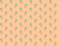 Seamless colorful hand drawn carrots pattern Stock Image