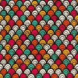 Seamless colorful hand drawn pattern. Stock Photo
