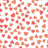 Seamless colorful hearts pattern Royalty Free Stock Photography
