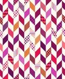 Seamless colorful herringbone pattern Royalty Free Stock Images