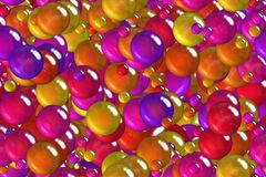 Seamless colorful indian blue scales, bubbles and balls celebratory wrapping paper Royalty Free Stock Images