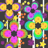 Seamless colorful kids floral pattern with flowers Royalty Free Stock Images