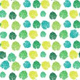 Seamless colorful leaf pattern royalty free stock photo