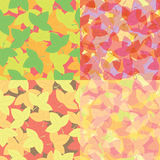 Seamless colorful leaves pattern, Abstract background Stock Photography