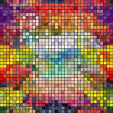 Seamless colorful mosaic pattern Stock Photography