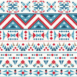 Seamless colorful navajo pattern Royalty Free Stock Photo