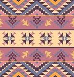 Seamless colorful navajo pattern. Vector illustration Stock Photo