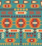 Seamless colorful navajo pattern Stock Photos