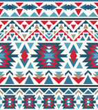 Seamless colorful navajo pattern. Vector illustration Stock Image