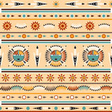 Seamless colorful navajo pattern Royalty Free Stock Images