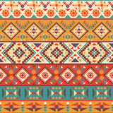 Seamless colorful navajo pattern. Vector illustration Royalty Free Stock Photo