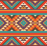 Seamless colorful navajo pattern Stock Image