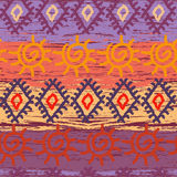 Seamless colorful navajo pattern Stock Images